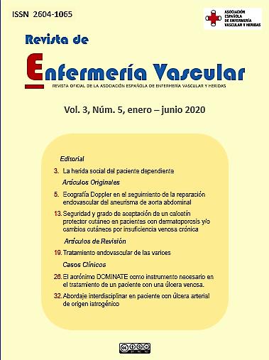 Revista de Enfermería Vascular Vol. 3 Núm.5 enero-junio 2020
